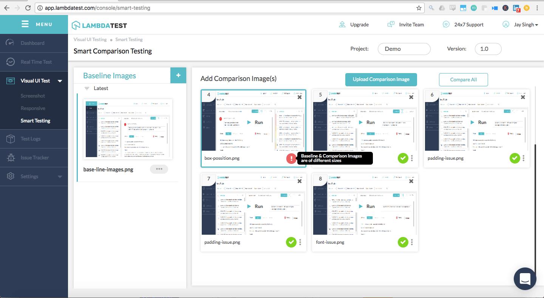 Smart Visual Testing