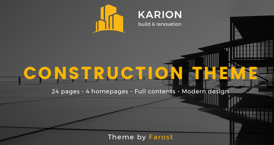 Karion - Construction & Building WordPress Theme