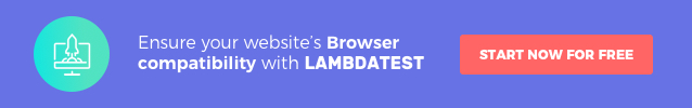 LambdaTest, Cross browser testing