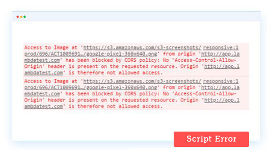 (Unknown): Script Error in JavaScript