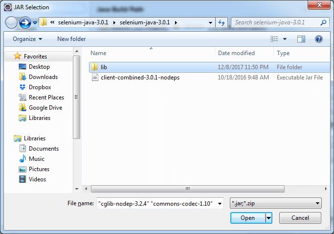 Import lib files