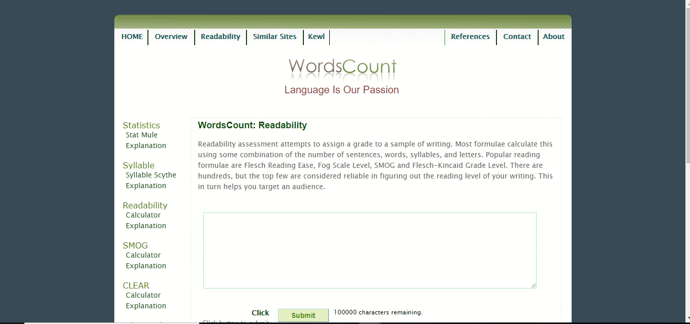 Words Count Tool