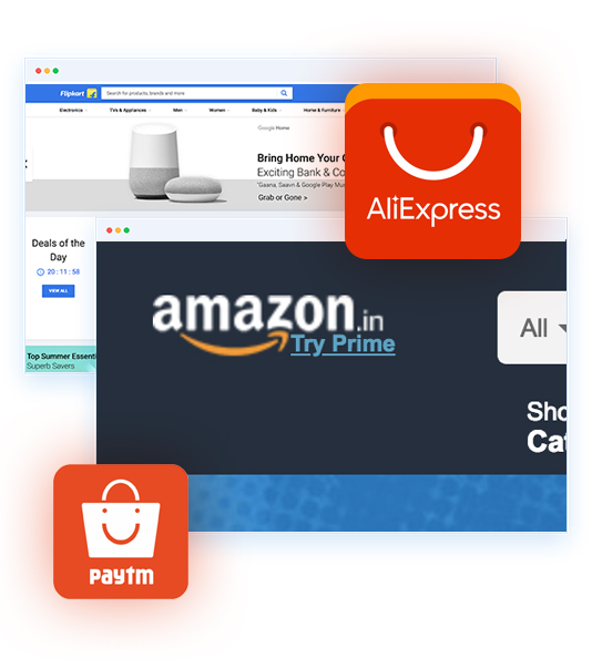 UI UX optimization, flipkart, amaon, aliexpress, ebay