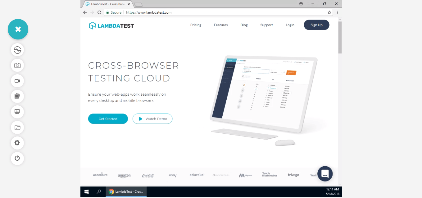Real time cross browser testing with lambdatest