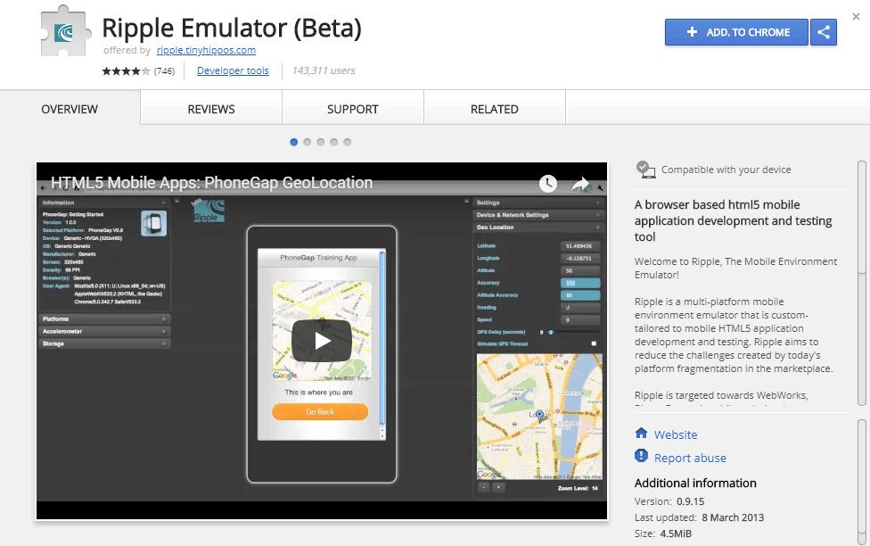 Ripple Emulator