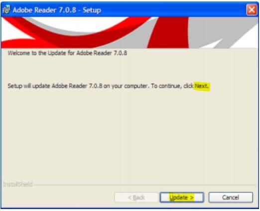 Update Adobe