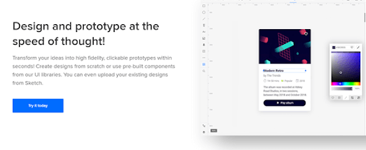 UXPin Website Mockup tool