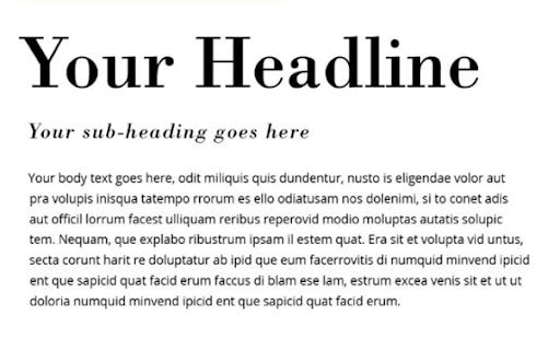 Multiple Fonts