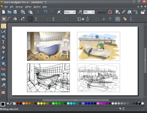 xara Designer Pro Website Mockup tool