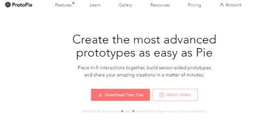 Protopie Website Mockup tool