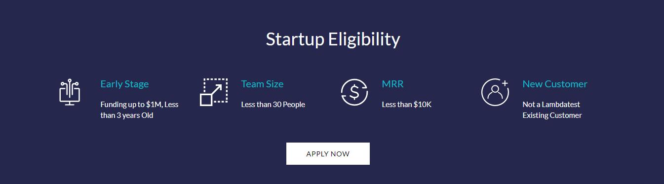 startup eligibility