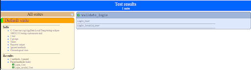 Cloud Based Testing Result