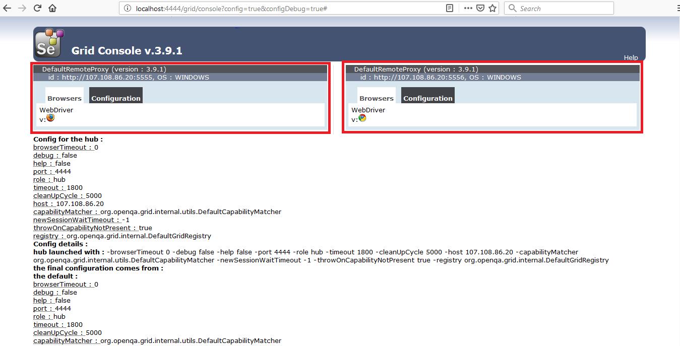 Selenium-Node-Browser-Output