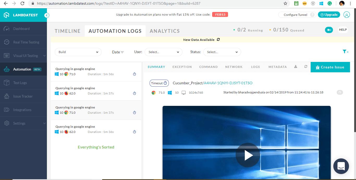 Automation Dashboard