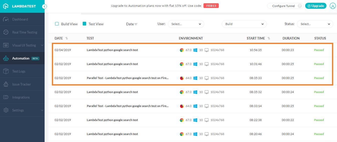 Lambdatest-Automation-window