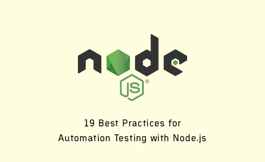 Automation testing With Node.js
