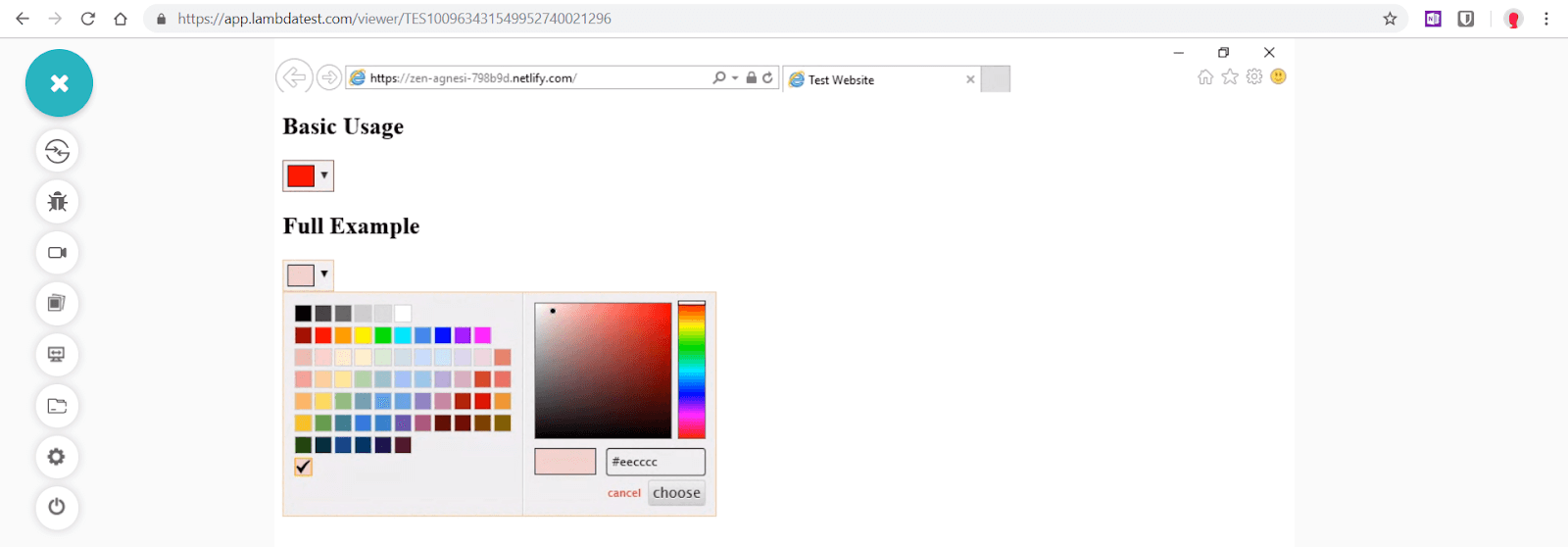 Spectrum colorpicker plugin Full Customisation