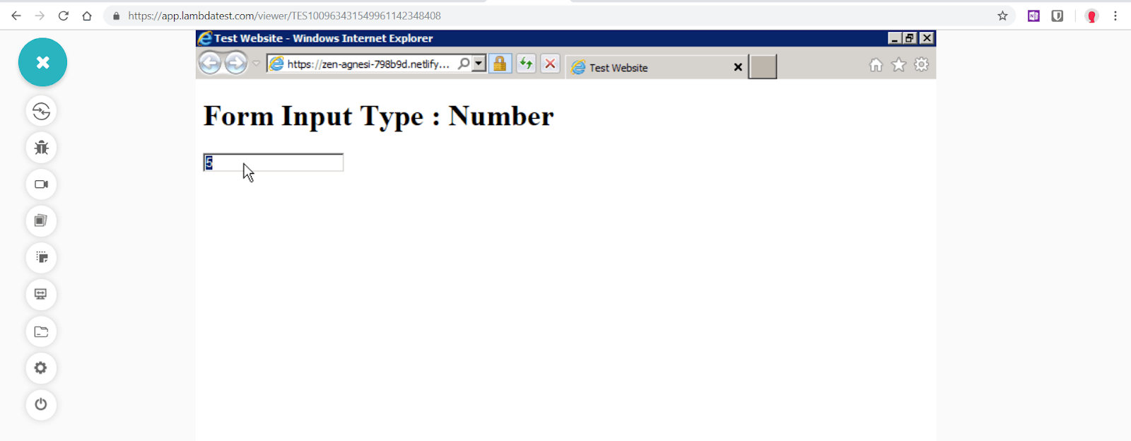"""Number"" is not supported in Internet Explorer 9"