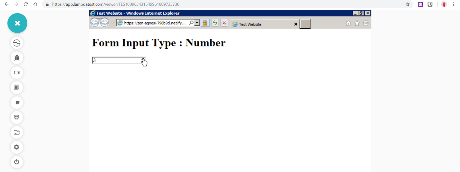 """Number"" is fixed for Internet Explorer 9 by using Number Polyfill"