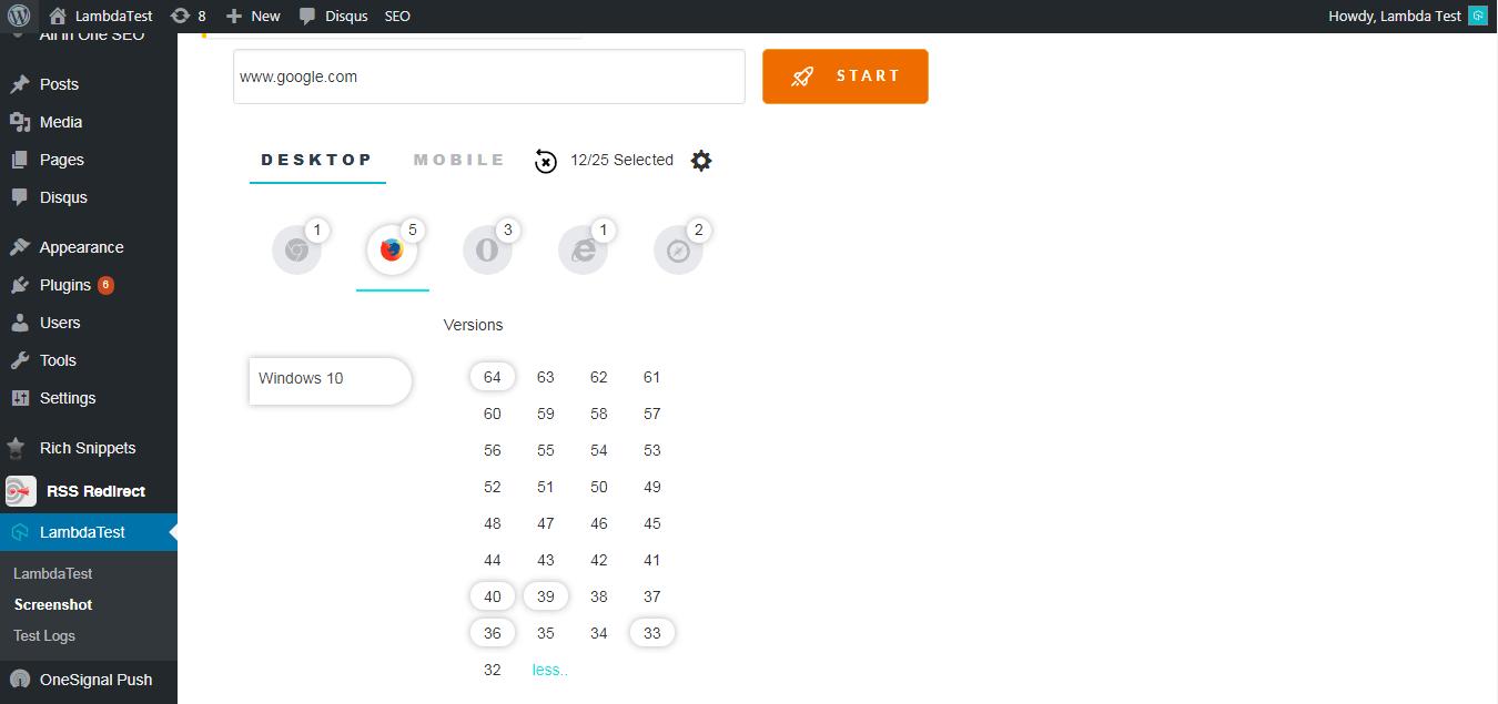 Legacy Browser Versions