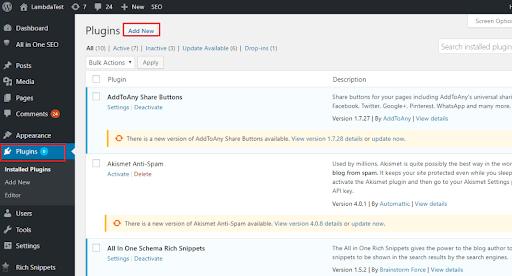 WordPress Plugin Of LambdaTest