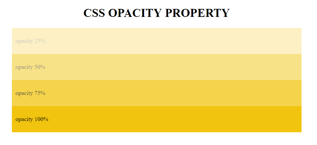 css opacity property