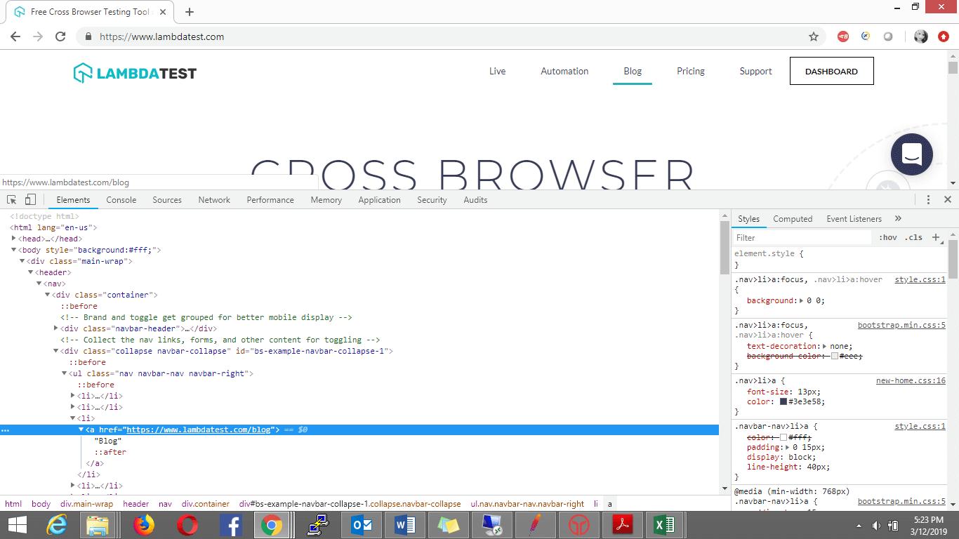 Link Text Locator In Selenium