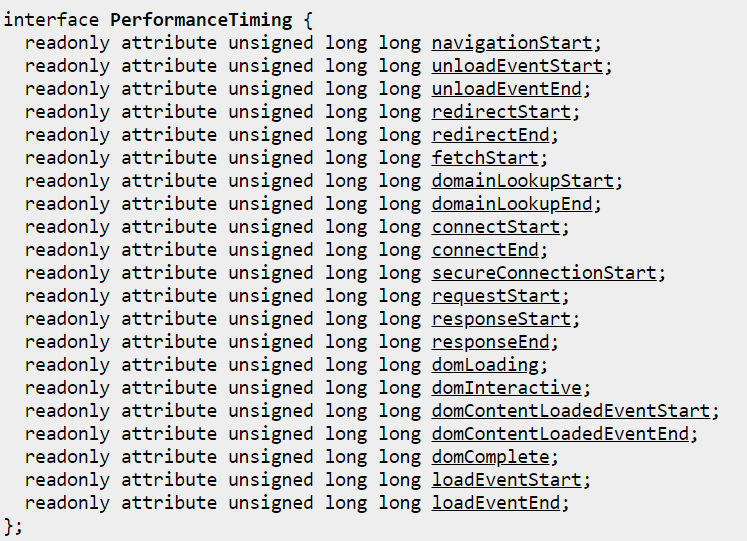 PerformanceTiming