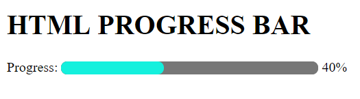 html progress bar