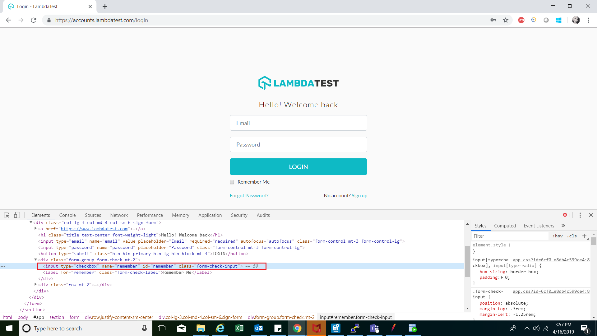 Using ID Locator in Selenium WebDriver