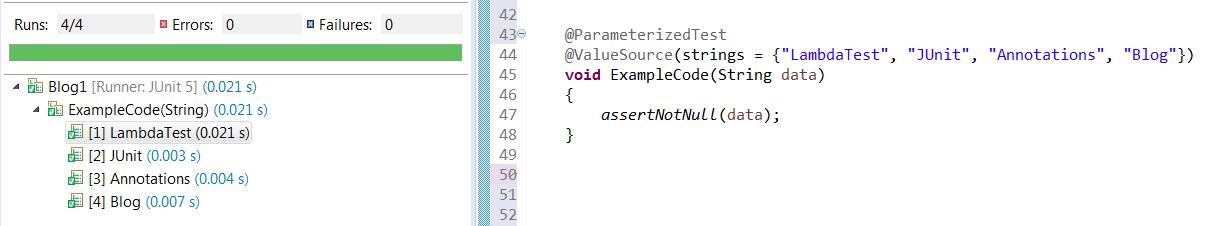 ParameterizedTest