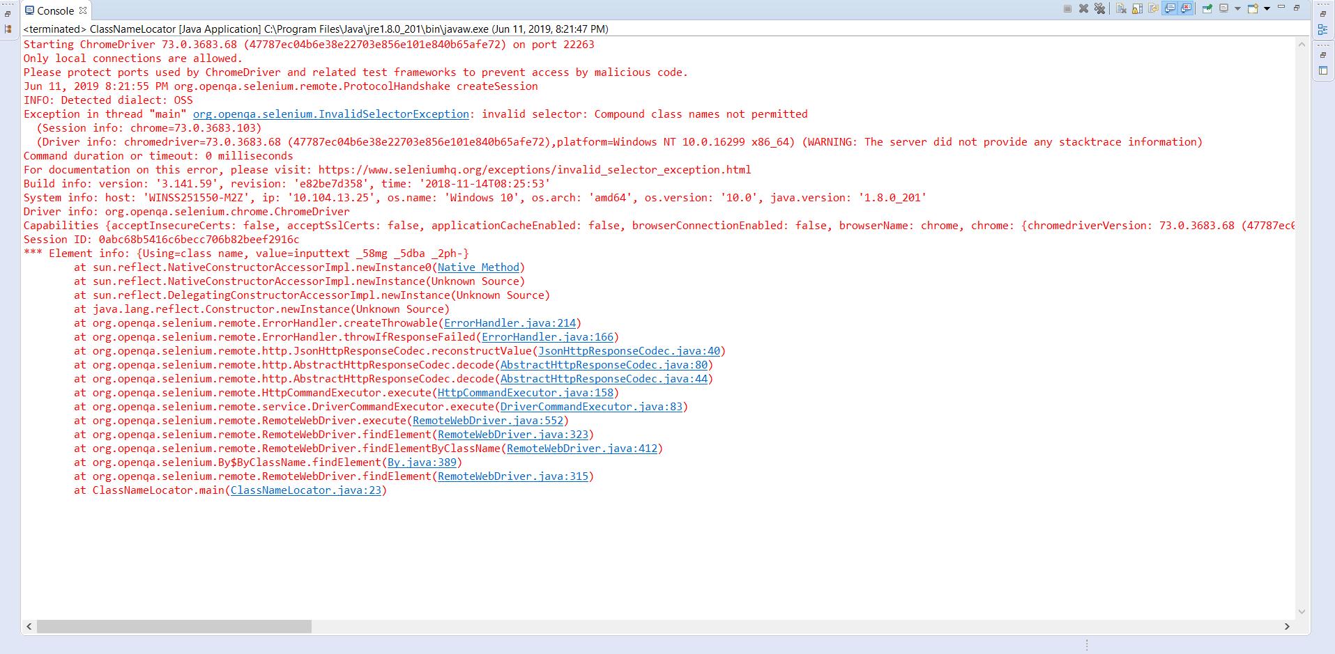 Selenium Java Tutorial - Class Name Locator In Selenium