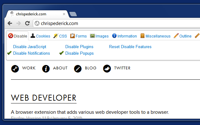 Web Developer - Web Development Tools Package