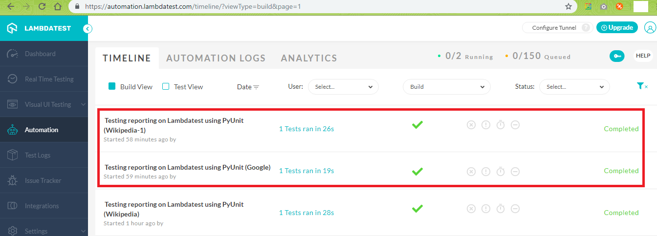 TestStatus-On-Lambdatest