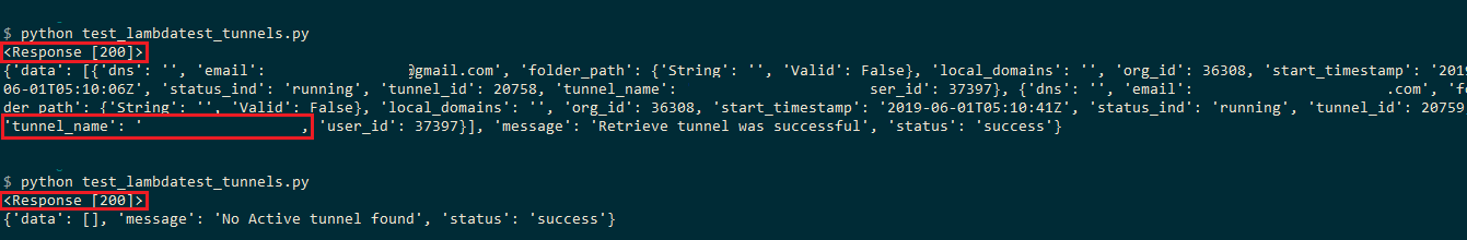 Tunnel-Output-Snapshot