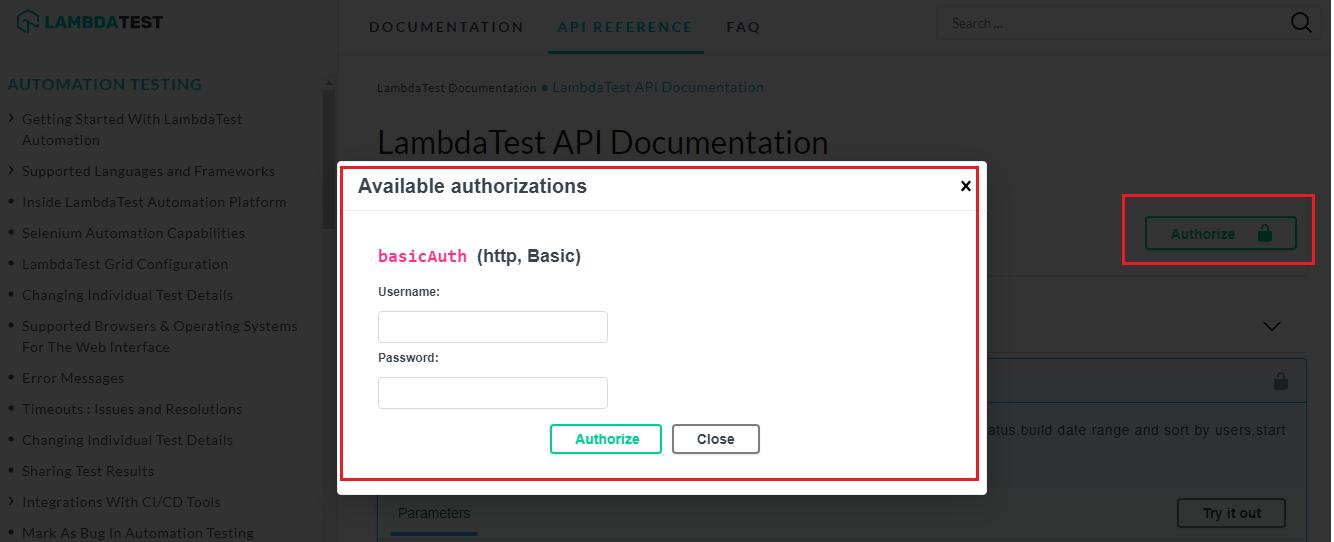 LambdaTest Selenium API