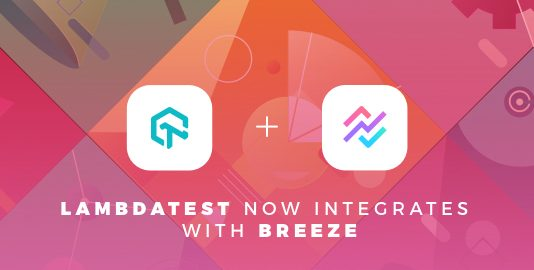 LambdaTest Integrates With Breeze