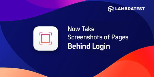 Now Take Screenshots of Pages Behind Login