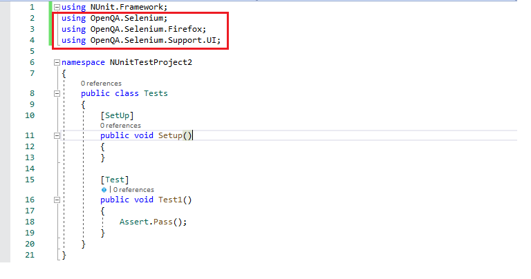 Selenium C# framework