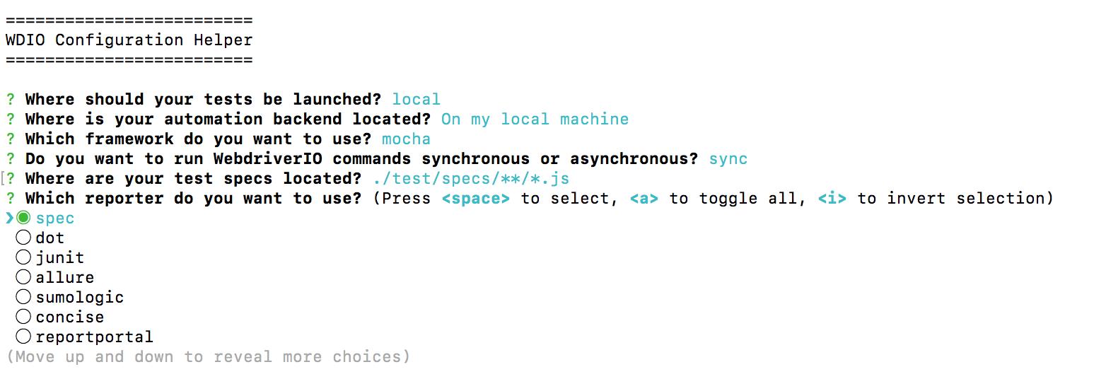 WDIO-configurations