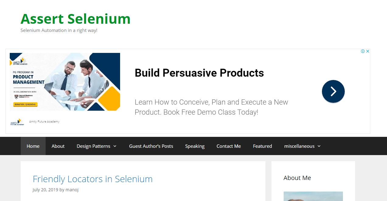 assert selenium blogs