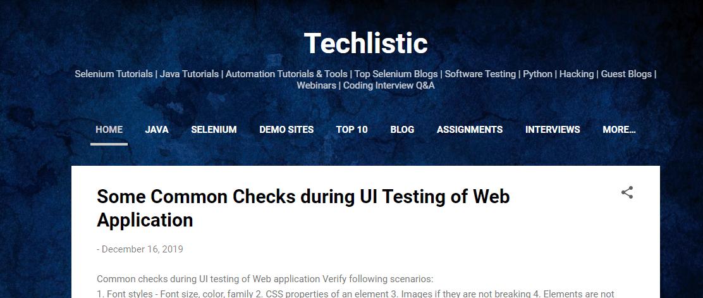 techlistic testing blogs