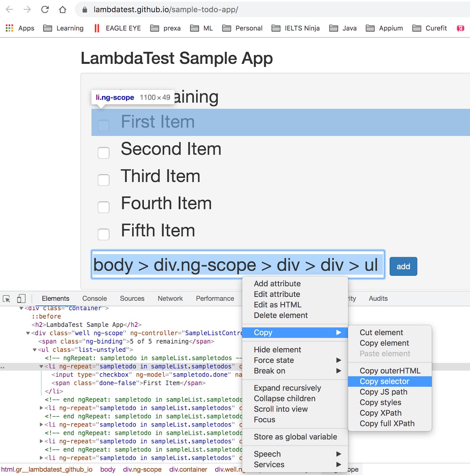 CSS query