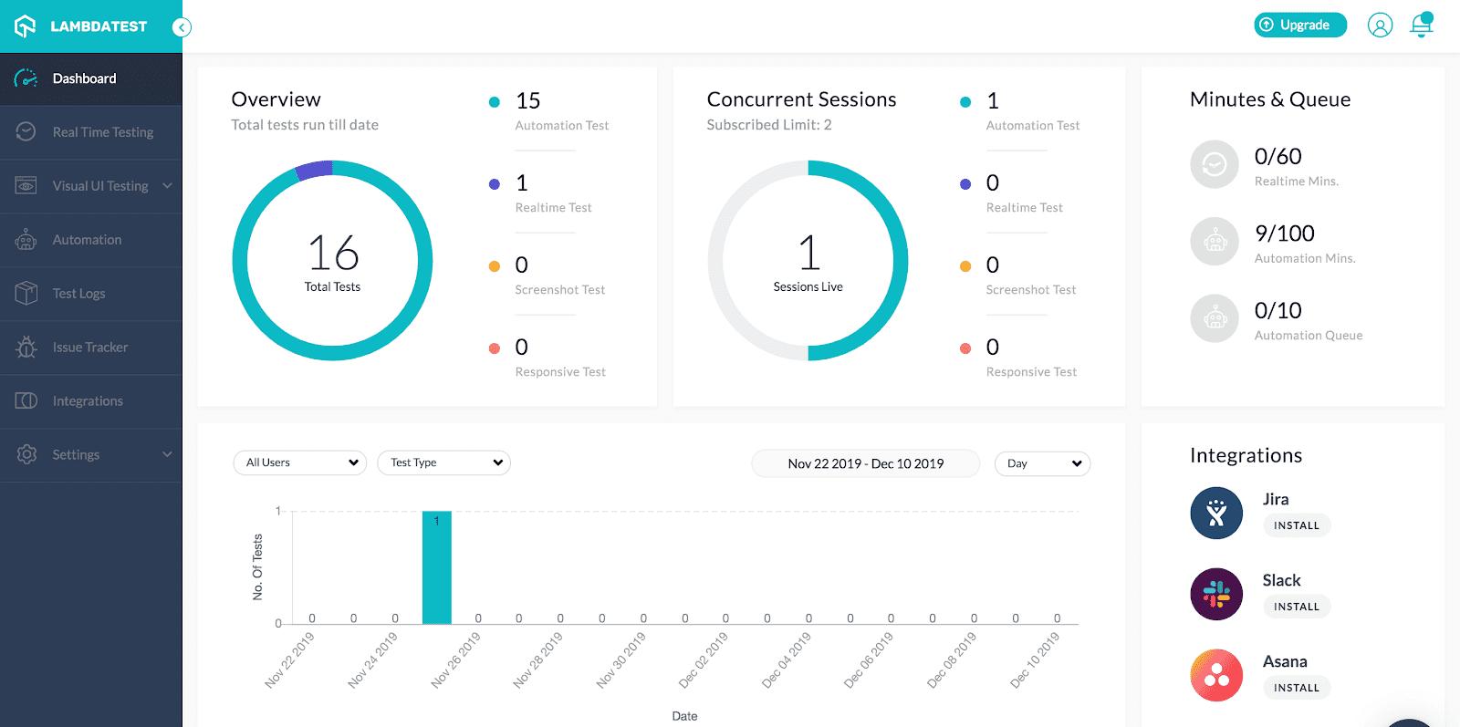 lambdatest_dashboard