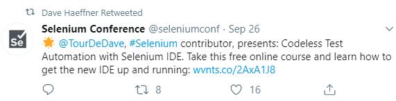 selenium tweet