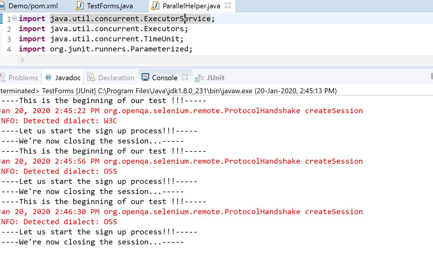 Eclipse IDE console