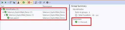 C#result for Explicit Wait in Selenium