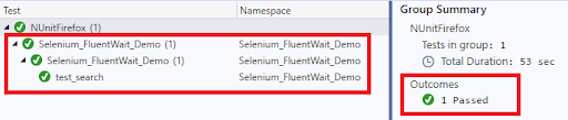 Final result for Explicit wait in Selenium