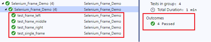 test-frame