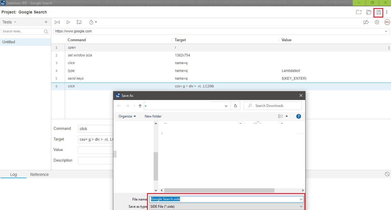 Selenium IDE tutorial,